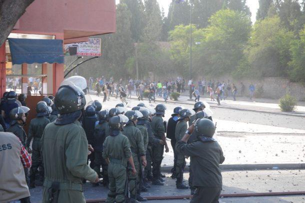 القضاء ينظر في ملف معتقلين إثر مواجهات بالحيّ الجامعي لمراكش (صور)