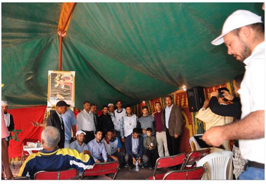 محور اللقاء التواصلي بولادمسعودالسوالم الطريفية إقليم برشيد