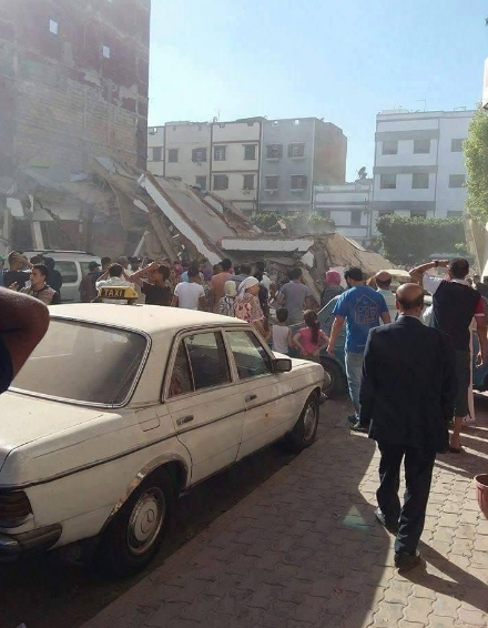 حصري: قتيل وجرحى في انهيار عمارة بشارع الشجر