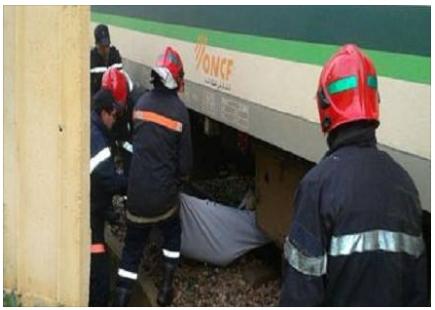 مصرع أخ الكاتب العام للنهضة السطاتية تحت عجلات قطار