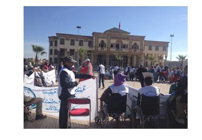 تنسيقية السلام الوطنية للأشخاص في وضعية إعاقة تحتج ببرشيد