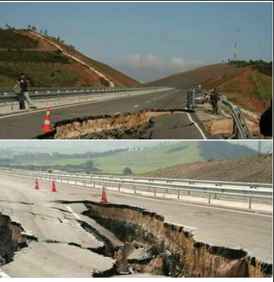 """بالصورة ..هذه حقيقة انهيار جزء من الطريق السيار الرابط بين تطوان والفنيدق"""""""