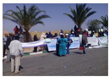 حقوقيون يحتجون ضد اعتقالات امام محكمة الابتدائية بابن أحمد