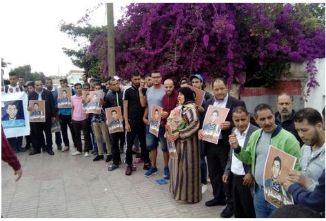 """نشطاء يطالبون بإطلاق سراح الناشط الفيسبوكي """"مول الشكارة"""""""