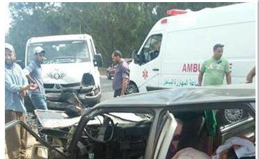قتلى و مصابون في حادثة سير خطيرة بين جماعة لمهارزة والبير جديد إقليم الجديدة