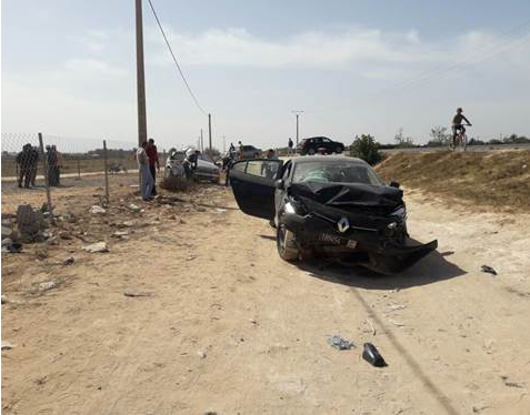 الجديدة/سيدي اسماعيل: حادثة سير بين سيارة تابعة للجماعة وسيارة خفيفة تخلف ضحية و5 جرحى