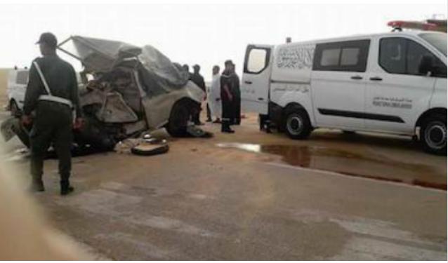 """حادث مؤلم… مصرع رجل مسن و إمرأة في اصطدام قوي بين شاحنة و سيارة من نوع """"داسيا دوستر"""""""