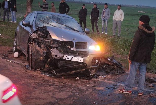 مطاردة لتاجر خمور بالطريق الرئيسية من طرف درك النواصريتسبب في حادثة سير