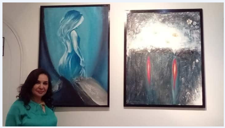 الفنانة التشكيلية سمية رشيد تعرض لوحاتها بالمركز الثقافي بالقنيطرة