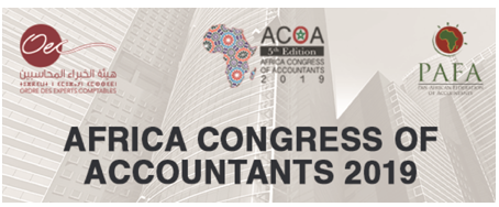 """بلاغ صحفي ACOA 2019 المؤتمر الخامس الإفريقي لمهنة المحاسبة الخبراء المحاسبين يفحصون """"القطاع العمومي"""" في مراكش البيضاء،6 دجنبر2018"""
