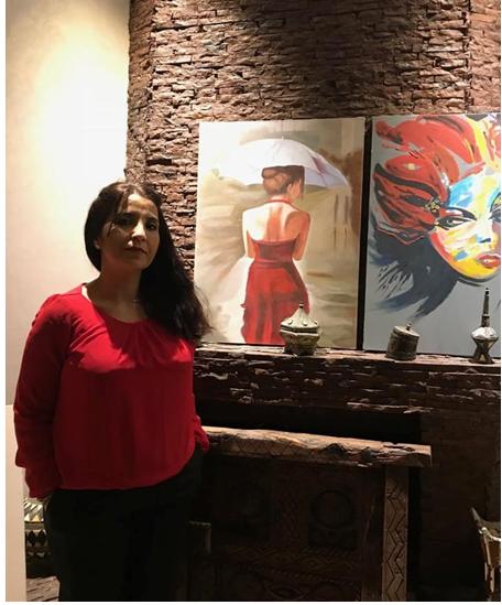 الفنانة التشكيلية مريم الوالي : ريشتي وفرت لي بيئة للإبداع