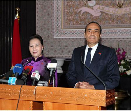 المالكي و رئيسة الجمعية الوطنية للفيتنام يتفقان على إعطاء دفعة جديدة للتعاون بين المجلسين