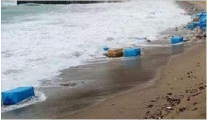 أطنان من الكوكايين تظهر في شاطئ سيدي رحال