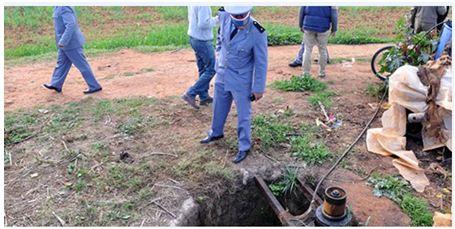 انتشال جثة أم لثلاثة أبناء من خزان أرضي للماء باشتوكة
