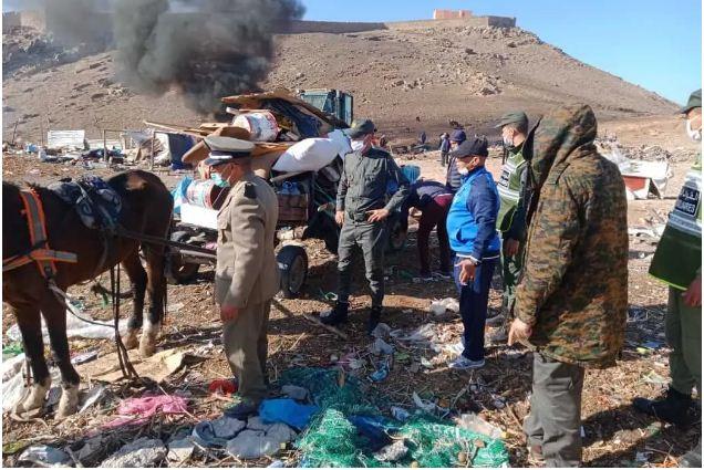 سلطات مراكش تحرر جبل جليز من الاسطبلات والأكواخ العشوائية + صور