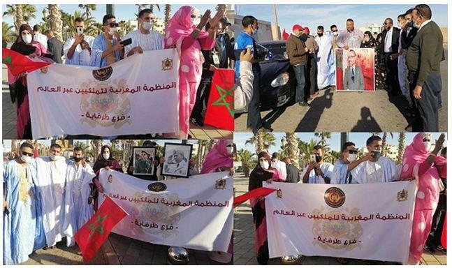هيئات المجتمع المدني تحتفل في طريقها إلى الحدود المغربية الكركرات