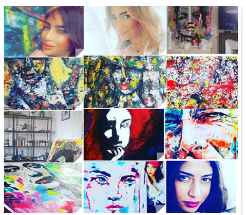 الفنانة التشكيلية كريمة ديلينا : لوحاتي خليط بين الحب والتسامح